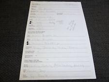 TONI BRAXTON signed autograph on BRAVO Lifelines Q&A Page VERY RARE