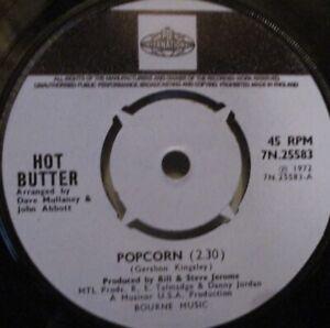 "HOT BUTTER - Popcorn ~ 7"" Single"