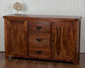 Large Sideboard Cupboard Dark Solid Sheesham Indian Rosewood Valencia