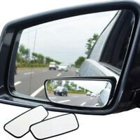 1 Pair Car Blind Spot Mirror Wide Angle 360° Adjustable Auxiliary Rearview Cool