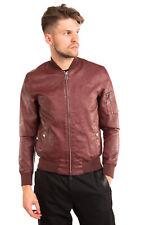 FREEDOMDAY BomberStyle Jacket Size M PU Leather Full Zip