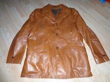 Women's Genuine Leather Sz 42L Coat Jacket Burnt Orange Light Brown