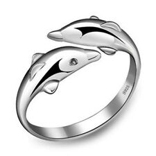 New Fashion 925 silver Jewelry Wholesale Dolphin Ring tail ring Gifts