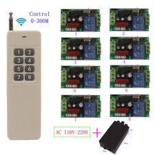 SALDI DC 12V 8CH Channel Wireless RF 3Remote Control Switch Transmitter 1Receiv
