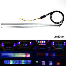 "2x 24"" RGB 7 colour LED Flexible Knight Rider Scanner Strip Light Waterproof"