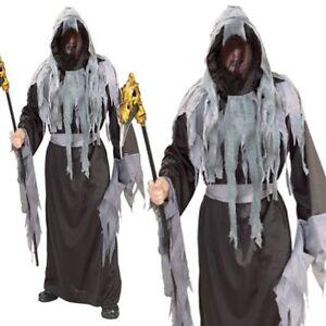 Death Robe Grim Reaper Cosplay Phantom Ghost Halloween Mens Fancy Costume