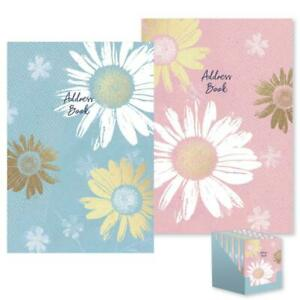 A5 Address Book Hardback Home Office Telephone Email A-Z Index Floral