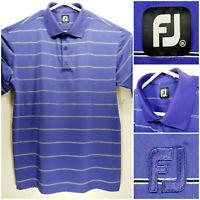 FootJoy FJ Mens 2XL XXL Golf Shirt Polo Purple Striped Polyester