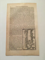K19) Harper's Monthly Map Of The Dead Sea And Vicinity 1855 Engraving