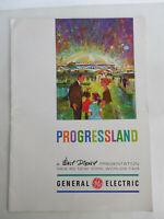 1964-1965 New York World's Fair Progressland Brochure Program GE Walt Disney