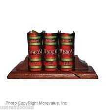 Wisdom I II III set 3 miniature books w/stand hardbound ribbed spine great gift