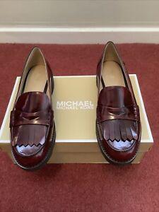 Michael Kors Alberta Leather Loafer Size Uk 6.5 BNWB