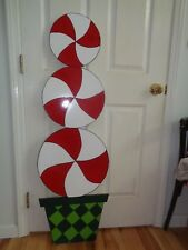 HAND MADE, WHOVILLE LOLLY POP TREE CHRISTMAS YARD ART. 51'' X 16''