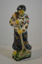 Vintage Folk Art Glazed Ceramic Female Figure