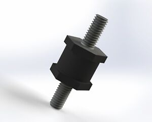 5-Pack: 16x16mm M6, Options, UK Made, Rubber Bobbin Anti Vibration Mount MM