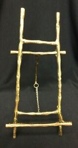 """VINTAGE BAMBOO BRASS PICTURE EASEL 10"""""""