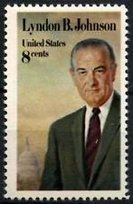 EE. UU. 1973 SG#1509 #D55478 presidente Lyndon Johnson estampillada sin montar o nunca montada