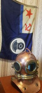 Vintage Maritime Russian 3 Bolt Deep Sea Diving flag Original USSR 1981