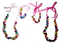 Children's Girls Beads Necklace and Bracelet Set - Party Bag/Stocking Fillers