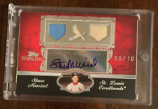 2007 Topps Sterling Stan Musial Auto Three Piece Jersey Relic 05/10 Cardinals🔥