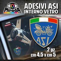 Adesivi / Stickers INTERNO VETRO ASI OLD auto ruote storiche rally epoca 4,5X5