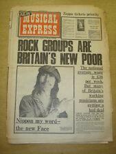NME 1973 AUG 4 FRANK ZAPPA YES STEVIE WONDER KINKS FACES SLADE