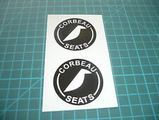 Corbeau Seats Stickers (Pair) 100mm