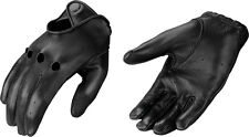 Men's Professional Style Deerskin Driving Glove Cut Out Knuckles w/ Snap Wrist