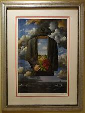 """GRACEFUL DREAM OF POETIC GLORY"" by Rafal Olbinski. 39 x 29.5 - POP-ART CLASSIC!"