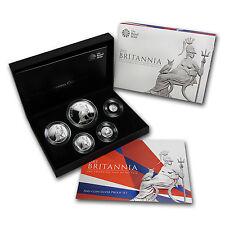 2013 5-coin Silver Britannia Set - Proof (w/box & CoA)