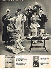 PUBLICITE  1960   NESTLE    lait concentré