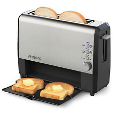 West Bend 77222 Quick Serve Wide Slot Toaster Bal And Gluten-Free Settings With