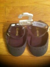 BABY GAP GIRLS BROWN MARY JANE ANKLE STRAP SHOES ORG. $16.95 SIZE 3-6 BNWT