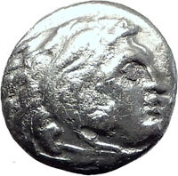 ALEXANDER III the GREAT 323BC Authentic Ancient Silver Greek Coin w Zeus i64501