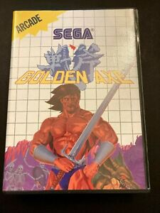 Sega Master System Golden Axe CASE AND MANUAL ONLY 1989