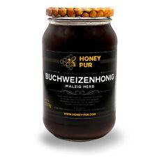 Echt Buchweizen-Honig im Honigglas 1,2 KG Bienenhonig Naturprodukt ohne Zusätze