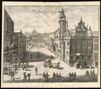 Antique Print-THE HAGUE-TOWN HALL-OUDE RAADHUIS-GROENMARKT-Riemer-Boitet-1730