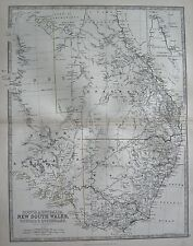 1868 LARGE VICTORIAN MAP : SOUTH AUSTRALIA NEW SOUTH WALES VICTORIA & QUEENSLAND