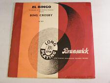 """BING CROSBY El Bingo Ex Brunswick UK 1950s 10"""" LP"""