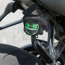 Small Black Kawasaki Brake & Clutch Reservoir Sock Cover Motorcycle Dirt Bike