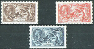 GB 1934 RE-ENGRAVED SEAHORSE SET SG 450-2  UNMOUNTED - NEVER HINGED and FRESH