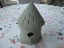 """Beautiful 9"""" Vintage Wooden Bird House 1 Window Opening w/Perch Pebbled Awesome"""