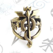 Anime Fullmetal Alchemist Logo Bornze Metal Finger Ring Cosplay Gift US Size 8