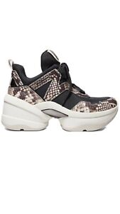 NIB Michael Kors Olympia Trainer Dad Shoes Sneakers Black/natural Size 11M ❤️❤️