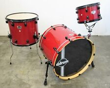 Ddrum Defiant 3 Piece Kit - Red Sparkle Lacquer - Basswood Shells - Cracked Bass