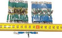 30 urfes de varilla acero inox con casquillos de 8 centímetros largo ,verde,azul