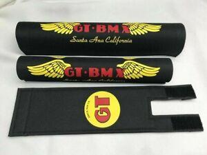 G T PAD SET PRO frame handlebars bar Stem bmx Re Made black