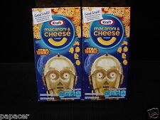2 C3PO Star Wars Shapes Kraft Macaroni & Cheese MAC Dinner pic boxes NEW