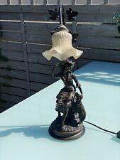 ital. Jugendstillampe aus Bronze(?) mit Signatur (Pegarano Mialio ?)