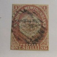 NEWFOUNDLAND Sc #23 Θ used, very fine postage stamp, 4 margins